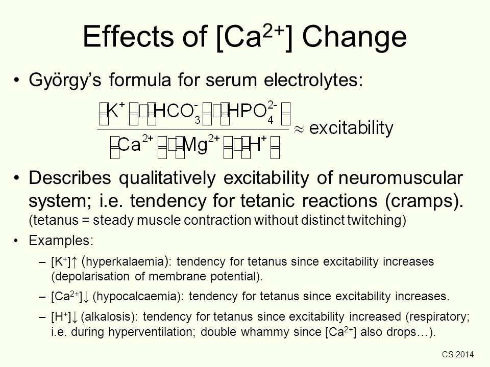Effects of [Ca2+] Change